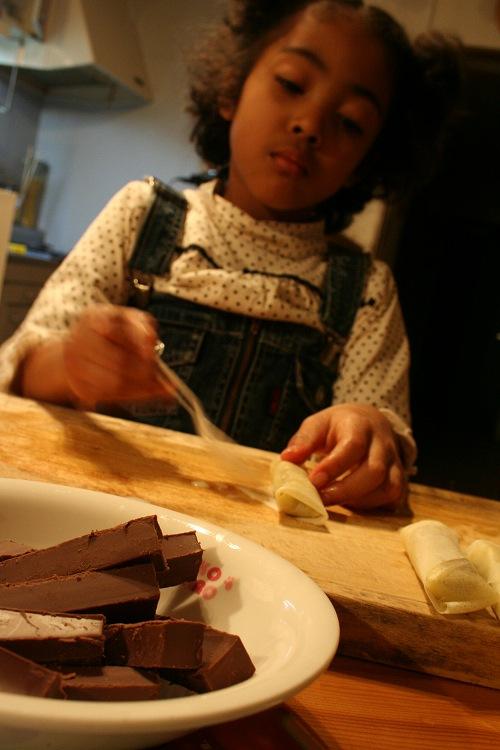 どたばたチョコ作り